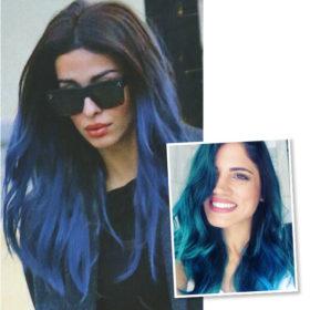 Μετά τη Μαίρη Συνατσάκη και την Ελένη Φουρέιρα, μία ακόμα σταρ έβαψε τα μαλλιά της μπλε!