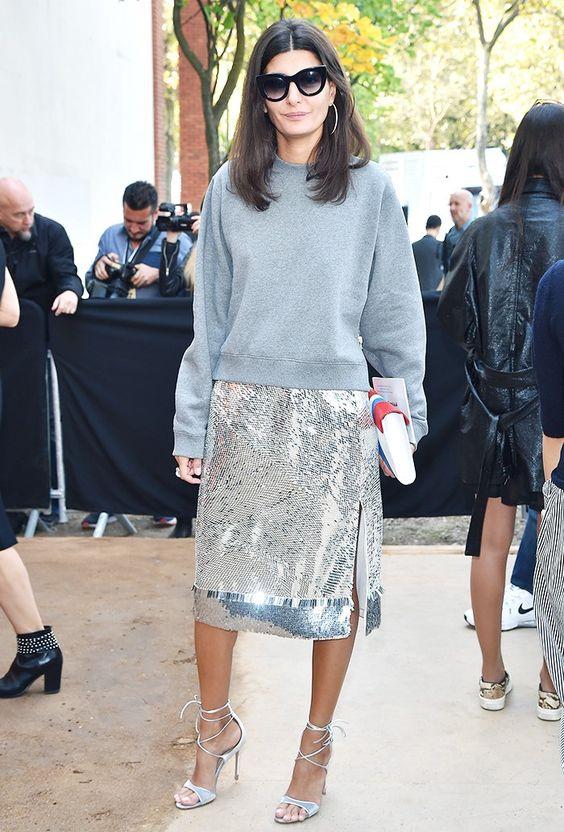 giovanna battaglia metallic skirt