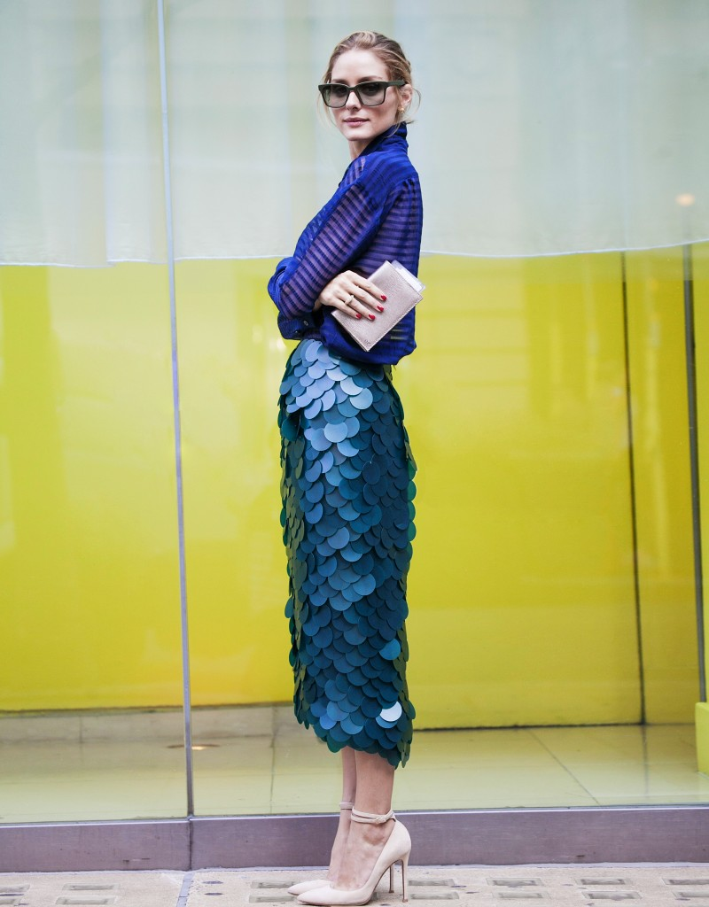 olivia palermo burberry skirt