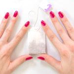 nail, tea bag