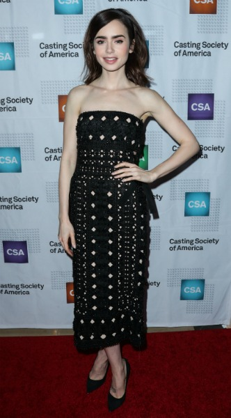 lily collins, mosaic, look of the day