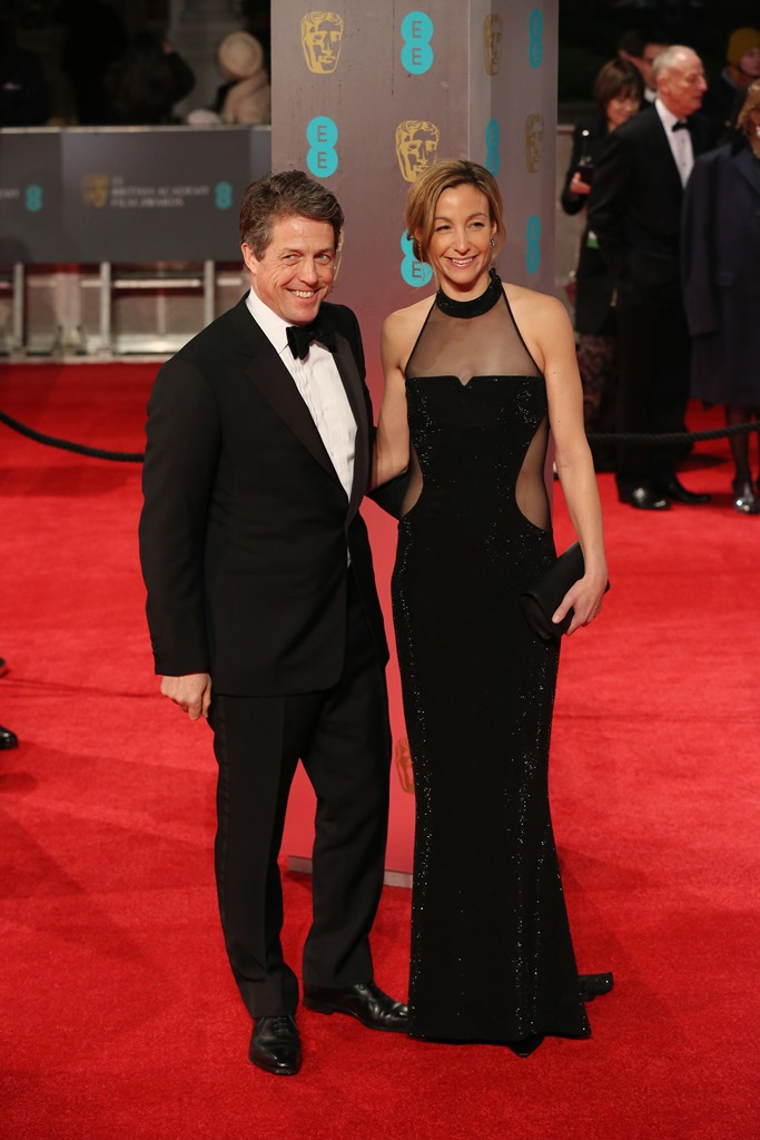 EE British Academy Film Awards 2017 (BAFTAs) Pictured: Hugh Grant, Anna Elisabet Ref: SPL1441248 130217 Picture by: Kiera Fyles Splash News and Pictures Los Angeles: 310-821-2666 New York: 212-619-2666 London: 870-934-2666 photodesk@splashnews.com