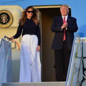Η πεντάμορφη Melania και ο Trump: Με το φόρεμα που μας θύμισε την Belle
