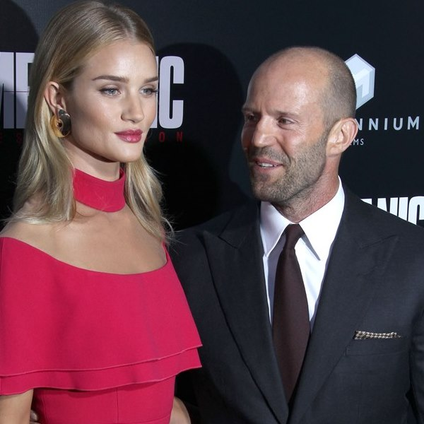 Mechanic : Resurrection Los Angeles Premiere Pictured: Jason Statham, Rosie Huntington Whitely Ref: SPL1338899 230816 Picture by: Jen Lowery / Splash News Splash News and Pictures Los Angeles: 310-821-2666 New York: 212-619-2666 London: 870-934-2666 photodesk@splashnews.com