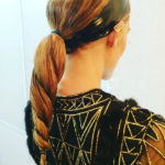 olivia palermo, twist braid, unicorn braid