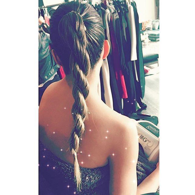 chrissy teigen, twist braid, unicorn braid