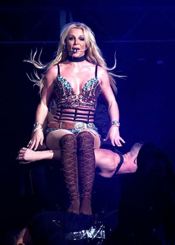 Britney Spears performs at SAP Center on December 3, 2016 in San Jose, California. <P> Pictured: Britney Spears <B>Ref: SPL1404189  031216  </B><BR /> Picture by: Splash News<BR /> </P><P> <B>Splash News and Pictures</B><BR /> Los Angeles:310-821-2666<BR /> New York:212-619-2666<BR /> London:870-934-2666<BR /> photodesk@splashnews.com<BR /> </P>