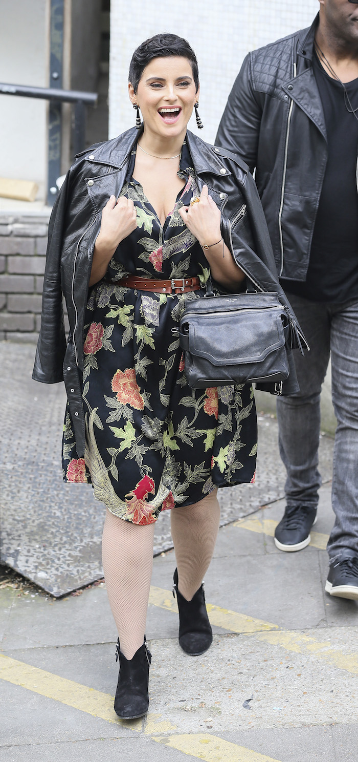 Singer Nelly Furtado is pictured leaving the ITV studios following a guest appearance on 'Loose Women'. Pictured: Nelly Furtado Ref: SPL1477981 120417 Picture by: Simon Earl / Splash News Splash News and Pictures Los Angeles: 310-821-2666 New York: 212-619-2666 London: 870-934-2666 photodesk@splashnews.com