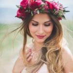 berry lips, bride, flower crown, nufi, gamos, homepage image