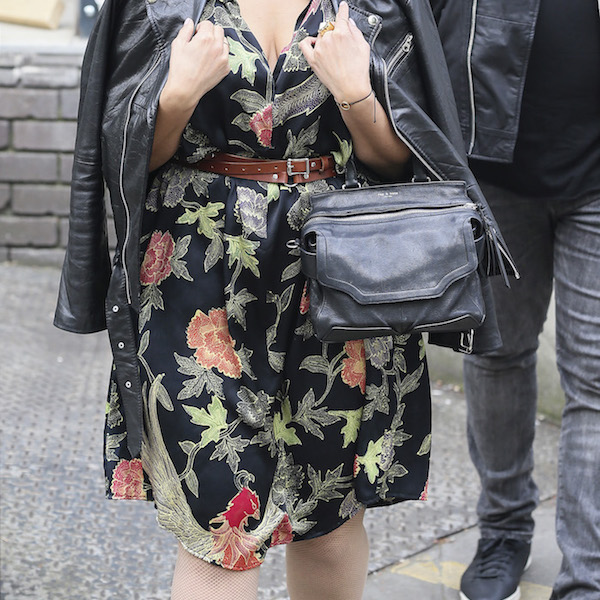 Singer Nelly Furtado is pictured leaving the ITV studios  following a guest appearance on 'Loose Women'.