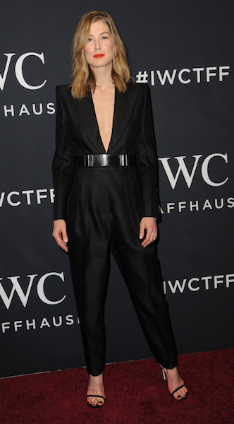 Stars attend the IWC Schaffhausen 5th Annual For the Love of Cinema Gala in New York City. Pictured: Rosamund Pike Ref: SPL1482481 200417 Picture by: Splash News Splash News and Pictures Los Angeles: 310-821-2666 New York: 212-619-2666 London: 870-934-2666 photodesk@splashnews.com