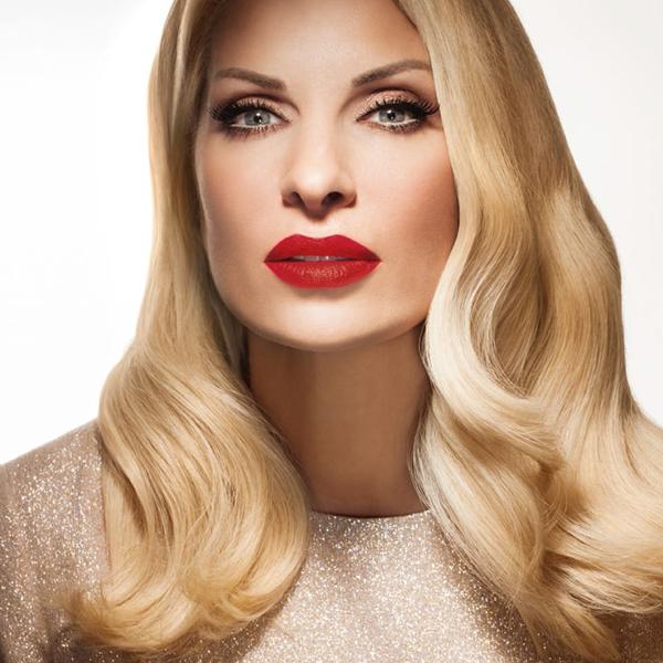 eleni menegaki, homepage image, red lips, kokkino kragion
