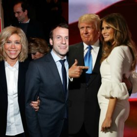 H Brigitte Macron «ντύθηκε» Melania Trump στην ορκωμοσία του νέου Γάλλου προέδρου