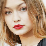 gigi hadid, homepage image, red lips, kokkino kragion
