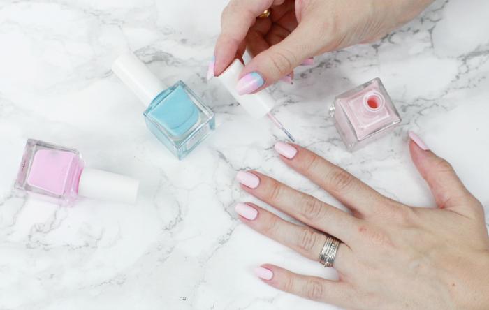 nails, pink, roz, galazio, manicure