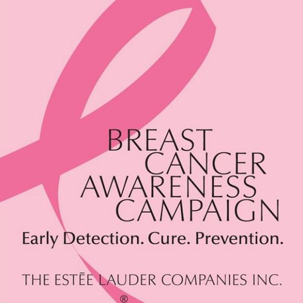 pink ribbon, estee lauder, homepage