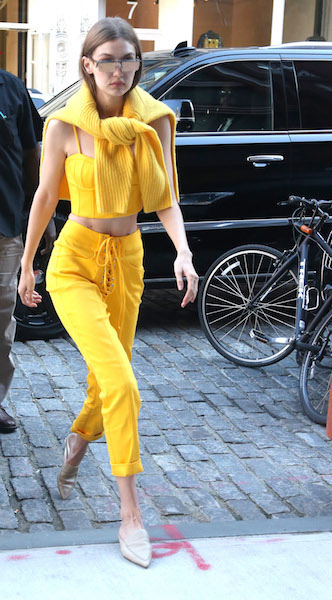 Gigi Hadid spotted out and about in New York City. Pictured: Gigi Hadid Ref: SPL1512018 020617 Picture by: Splash News Splash News and Pictures Los Angeles: 310-821-2666 New York: 212-619-2666 London: 870-934-2666 photodesk@splashnews.com