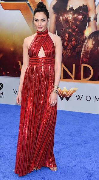 Gal Gadot dazzles in red sequined Givenchy gown at the 'Wonder Woman' world premiere at the Pantages Theatre on May 25, 2017 in Hollywood, California. Pictured: Gal Gadot Ref: SPL1507778 250517 Picture by: Splash News Splash News and Pictures Los Angeles: 310-821-2666 New York: 212-619-2666 London: 870-934-2666 photodesk@splashnews.com