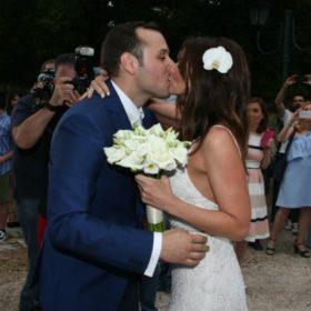 Βασίλης Λιάτσος-Ελένη Καρποντίνη: Δείτε το φωτογραφικό άλμπουμ του γάμου τους!