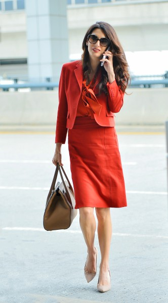 amal clooney, look of the day, mosaic