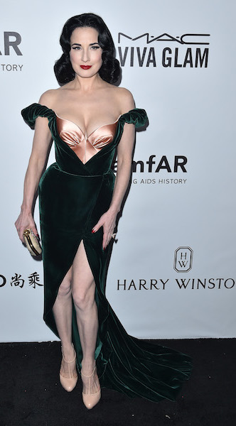 2017 amfAR Gala Los Angeles. Pictured: Dita Von Teese Ref: SPL1602091 131017 Picture by: AXELLE WOUSSEN/Bauergriffin.com