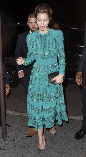 jessica biel, mosaic, look of the day