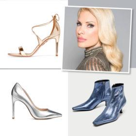 Αντιγράψτε το look της Ελένης Μενεγάκη με αυτά τα μεταλλιζέ παπούτσια