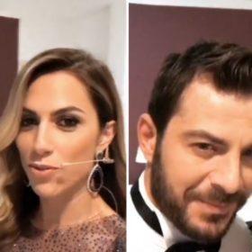 Γιώργος Αγγελόπουλος-Ντορέττα Παπαδημητρίου: Το βίντεο μέσα από τα παρασκήνια των βραβείων που παρουσίασαν