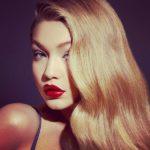 Gigi-Hadid, red lips