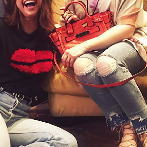 Selena Gomez gives her mom a personalized designer handbag for Mother's Day.