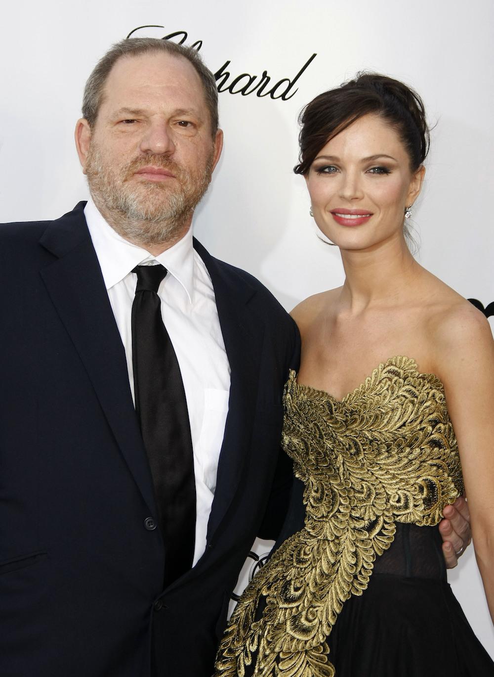 File Images :Georgina Chapman and Producer Harvey Weinstein <P> Pictured: Harvey Weinstein and Georgina Chapman <B>Ref: SPL1599205  111017  </B><BR /> Picture by: Splash News<BR /> </P><P> <B>Splash News and Pictures</B><BR /> Los Angeles:310-821-2666<BR /> New York:212-619-2666<BR /> London:870-934-2666<BR /> photodesk@splashnews.com<BR /> </P>