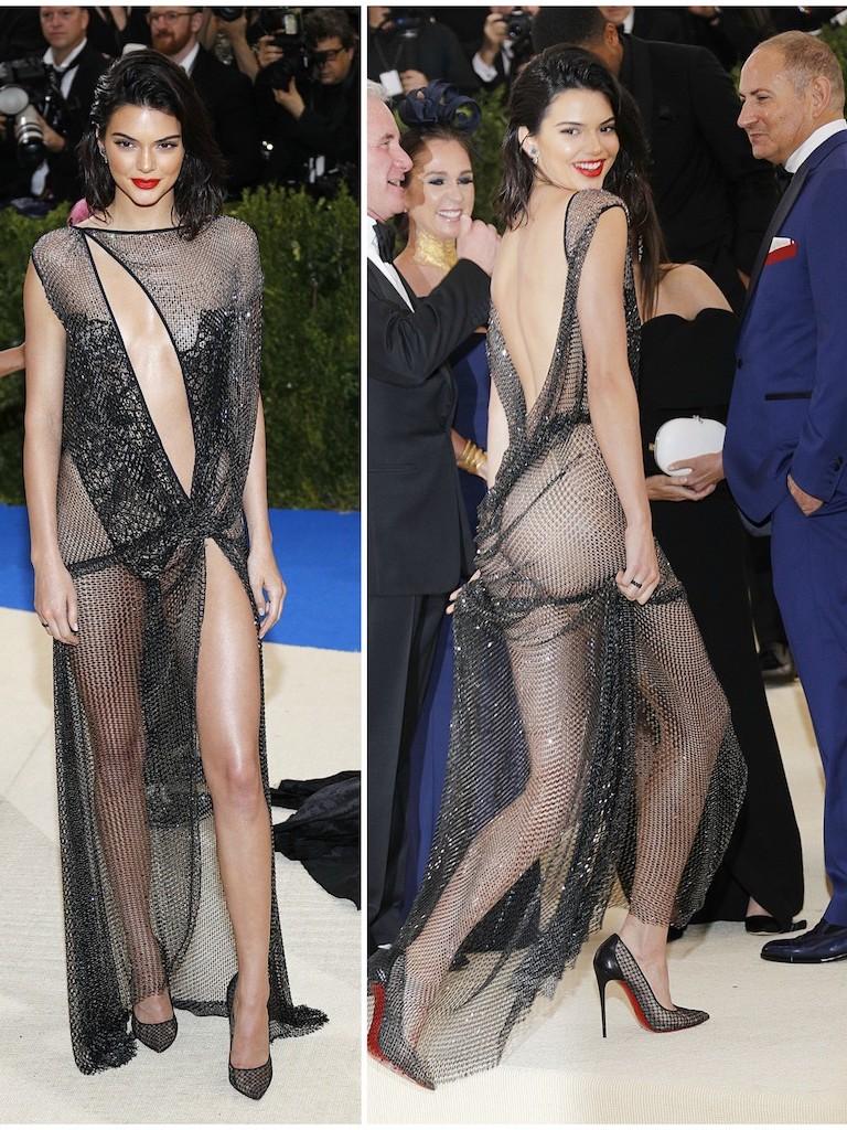 H Kendall Jenner στο Met Gala με La Perla Haute Couture Collection φτιαγμένο από 85,000 κρύσταλλα ζωγραφισμένα και ραμμένα στο χέρι. Χρειάστηκε 160 ώρες να κατασκευαστεί.