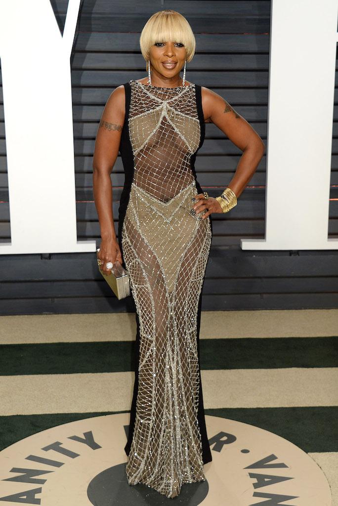 Μια από τις σπάνιες (και τόσο σέξι) εμφανίσεις της Mary J. Blige με Galia Lahav Haute Couture.