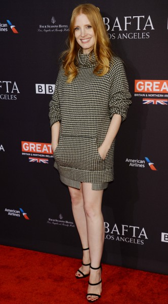 jessica chastain, mosaic, look of the day