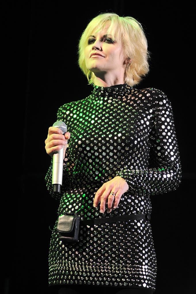 Irish singer Dolores O'Riordan of The Cranberries during their perfomance at the Mediolanum forum in Milan, Italy <P> Pictured: The Cranberries <P> <B>Ref: SPL452666  301012  </B><BR /> Picture by: Leopix / Splash News<BR /> </P><P> <B>Splash News and Pictures</B><BR /> Los Angeles:310-821-2666<BR /> New York:212-619-2666<BR /> London:870-934-2666<BR /> photodesk@splashnews.com<BR /> </P>