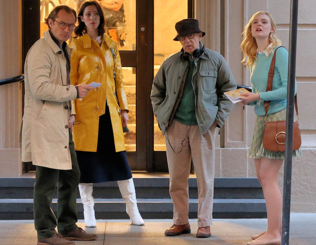 Στα γυρίσματα της ταινίας, ο σκηνοθέτης μαζί με τους Jude Law, Rebecca Hall και Elle Fanning