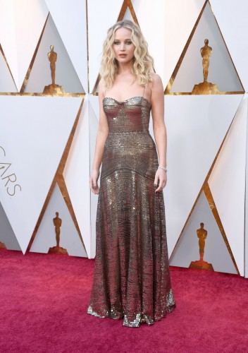 HOLLYWOOD, CA - MARCH 04: Jennifer Lawrence attends the 90th Annual Academy Awards at Hollywood & Highland Center on March 4, 2018 in Hollywood, California. (Photo by Frazer Harrison/Getty Images)