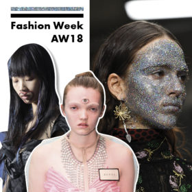 Fashion Week A/W 2018: Τα weird beauty looks που είδαμε στα shows είναι πολλά