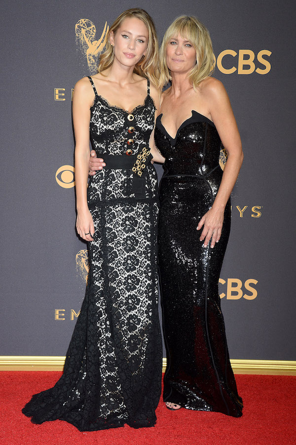 NO JUST JARED USAGE Celebrities Attend The 69th Emmy Awards in Los Angeles. Pictured: Robin Wright, Dylan Frances Penn Ref: SPL1581797 170917 Picture by: Splash News Splash News and Pictures Los Angeles: 310-821-2666 New York: 212-619-2666 London: 870-934-2666 photodesk@splashnews.com