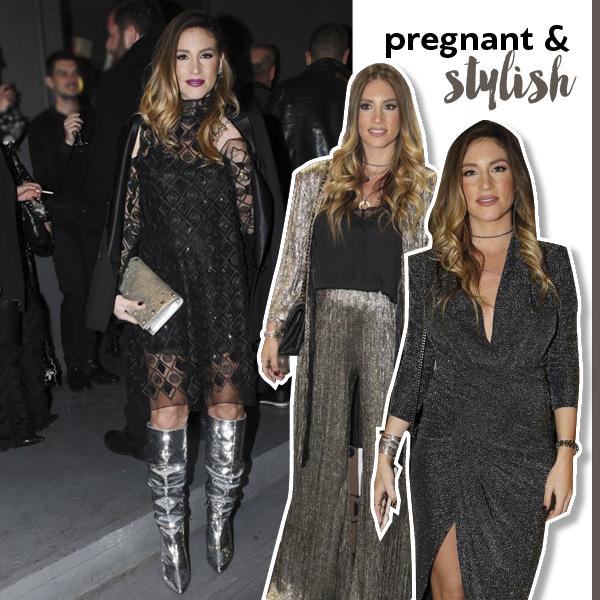 5b8010865148 Αθηνά Οικονομάκου  Επιλέξαμε τα πιο stylish looks από την εγκυμοσύνη ...