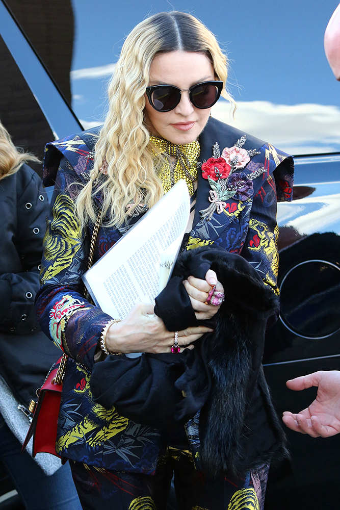 Celebrities attend the Billboard Woman in Music event at Pier 36 in New York City.  Pictured: Madonna Ref: SPL1403089  091216   Picture by: Splash News Splash News and Pictures Los Angeles:310-821-2666 New York:212-619-2666 London:870-934-2666 photodesk@splashnews.com , σεξουαλική παρενόχληση