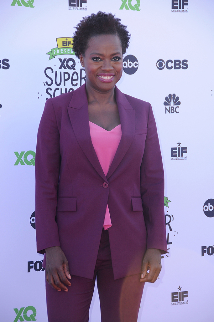 Entertainment Industry Foundation and XQ Institute Present: XQ Super School Live held at The Barker Hangar in Santa Monica. Pictured: Viola Davis Ref: SPL1572781  080917   Picture by: AdMedia / Splash News Splash News and Pictures Los Angeles:310-821-2666 New York:212-619-2666 London:870-934-2666 photodesk@splashnews.com