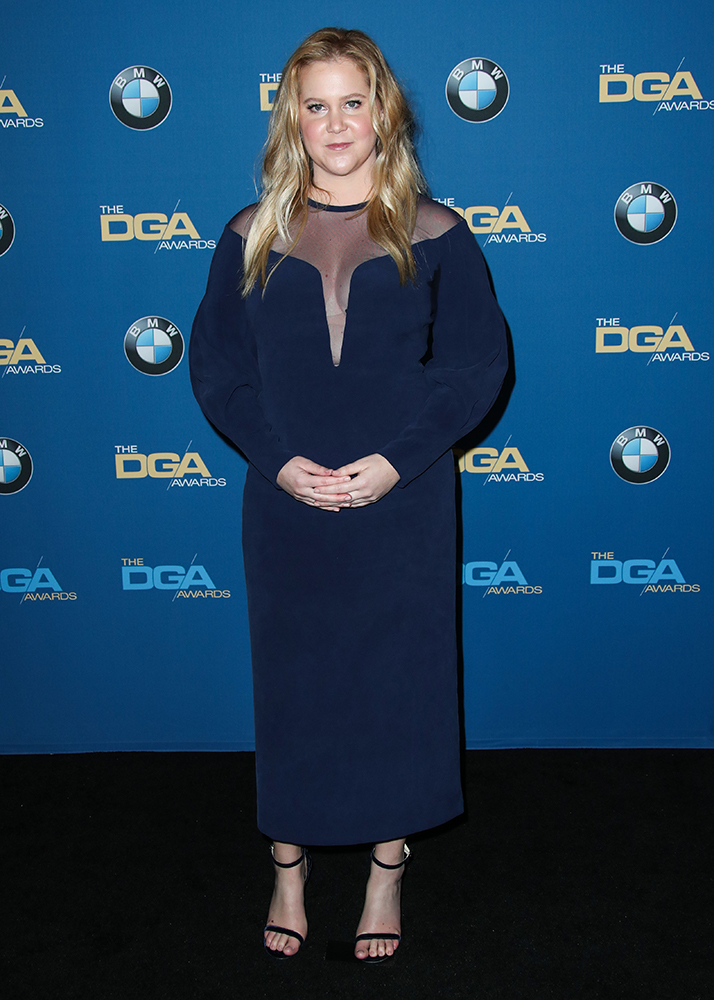 BEVERLY HILLS, LOS ANGELES, CA, USA - FEBRUARY 03: 70th Annual Directors Guild Of America Awards held at The Beverly Hilton Hotel on February 3, 2018 in Beverly Hills, Los Angeles, California, United States. (Photo by Xavier Collin/Image Press Agency/Splash News) Pictured: Amy Schumer Ref: SPL1654793  030218   Picture by: Xavier Collin/IPA/Splash News Splash News and Pictures Los Angeles:310-821-2666 New York:212-619-2666 London:870-934-2666 photodesk@splashnews.com , σεξουαλική παρενόχληση