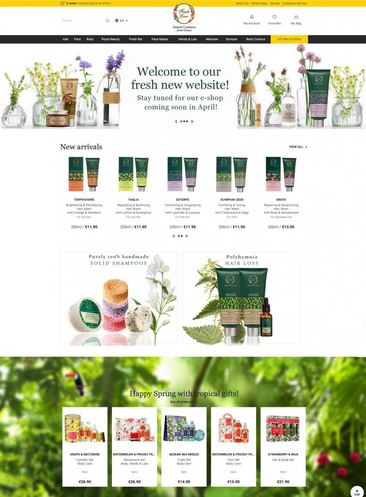 website fresh line, e-shop
