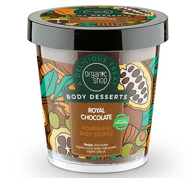 BODY DESSERTS ROYAL CHOCOLATE NOURISHING BODY SOUFFLENATURA SIBERICA, γλυκά