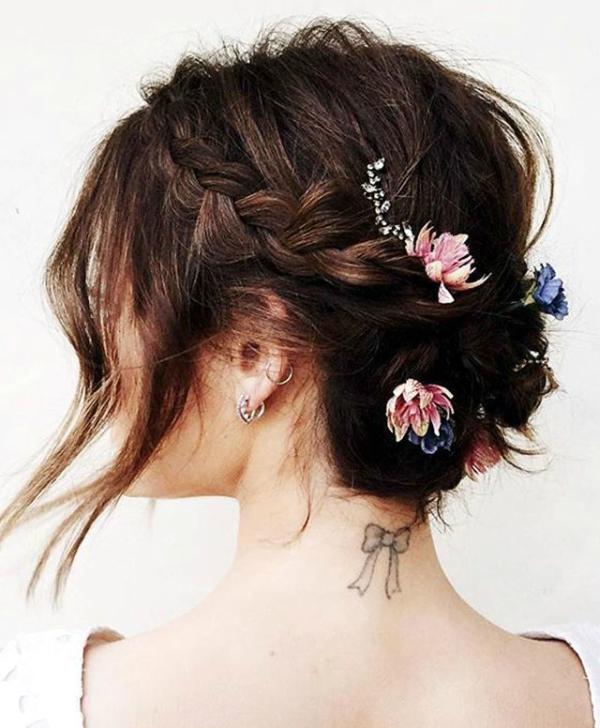 braid flower hair