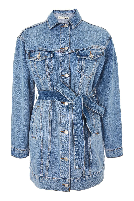 belted jacket topshop