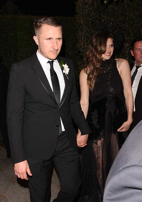 Lake Bell and Scott Campbell are seen leaving a party held for Gwyneth Paltrow and Brad Falchuck in Los Angeles Pictured: Lake Bell and Scott Campbell Ref: SPL1683043  150418   Picture by: Photographer Group / Splash News Splash News and Pictures Los Angeles:310-821-2666 New York:212-619-2666 London:870-934-2666 photodesk@splashnews.com
