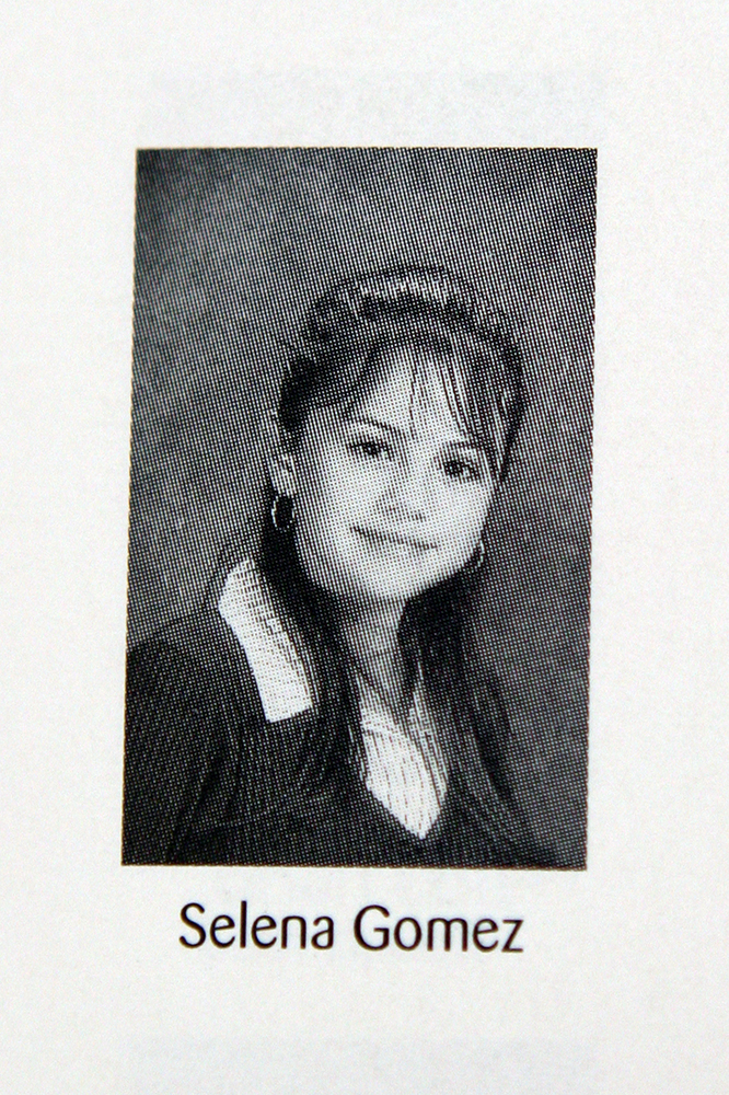 Here is teen actress Selena Gomez as a fresh-faced school student. The Wizards of Waverly Place star poses, aged 14, for her 8th grade yearbook picture at Danny Jones Middle School in Mansfield, Texas. Pictured: Selena Gomez  Ref: SPL50445 170908 EXCLUSIVE  Picture by: Turner / Splash News Splash News and Pictures Los Angeles: 310-821-2666 New York: 212-619-2666 London: 870-934-2666 photodesk@splashnews.com Splash News and Picture Agency does not claim any Copyright or License in the attached material. Any downloading fees charged by Splash are for Splash's services only, and do not, nor are they intended to, convey to the user any Copyright or License in the material. By publishing this material , the user expressly agrees to indemnify and to hold Splash harmless from any claims, demands, or causes of action arising out of or connected in any way with user's publication of the material.