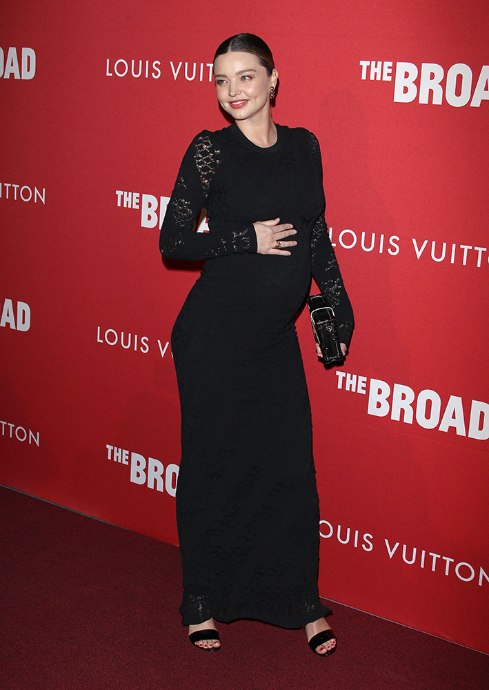 The Broad and Louis Vuitton Celebrate: Jasper Johns Something Resembling Truth Exhibit Pictured: Miranda Kerr Ref: SPL1654691  080218   Picture by: Jen Lowery / Splash News Splash News and Pictures Los Angeles:310-821-2666 New York:212-619-2666 London:870-934-2666 photodesk@splashnews.com